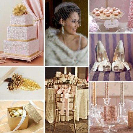 matrimonio oro e rosa