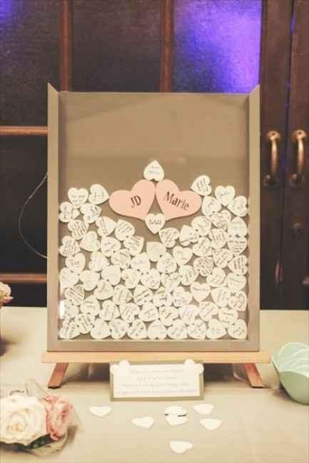 Idea Guestbook: cuoricini in legno da firmare