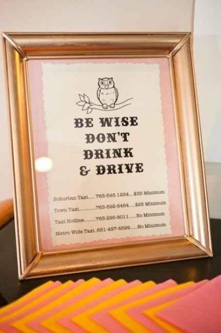 Idea per gli ospiti che sicuramente berranno!! ;)