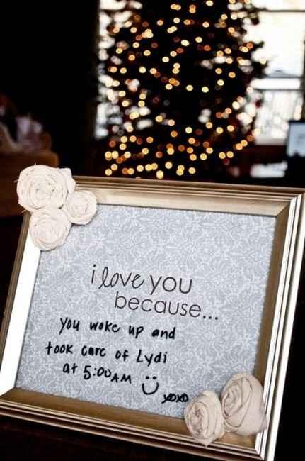 Idea per regalino fm/marito: cornice con dedica sempre diversa