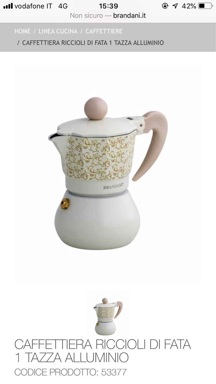 Una caffettiera per bomboniera - 1