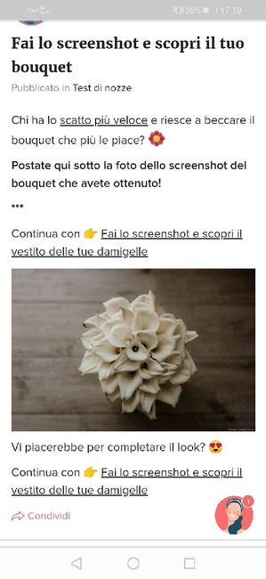 Fai lo screenshot e scopri il tuo bouquet 28