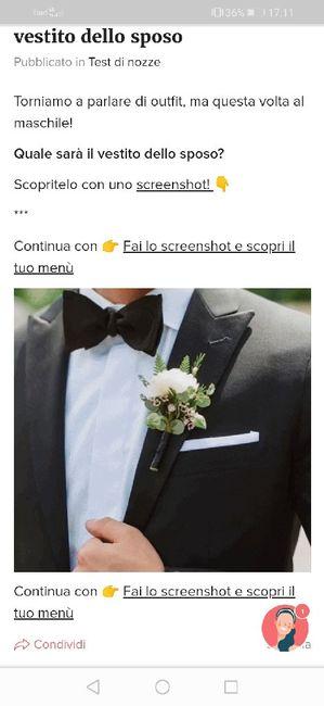 Fai lo screenshot e scopri il vestito dello sposo 28
