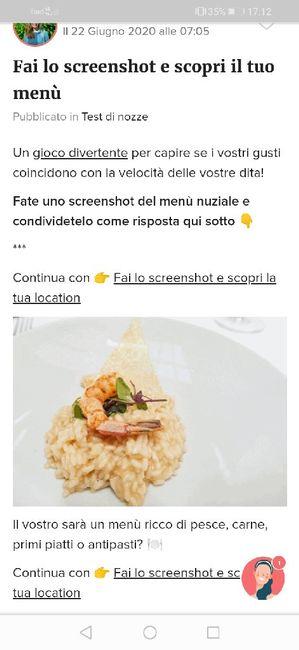 Fai lo screenshot e scopri il tuo menù 25