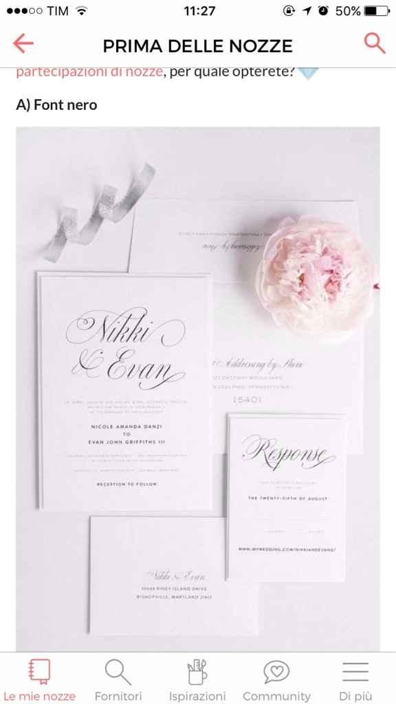 Fateci vedere le vostre partecipazioni di nozze! - 1