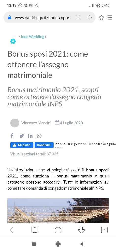 Bonus matrimonio - 1