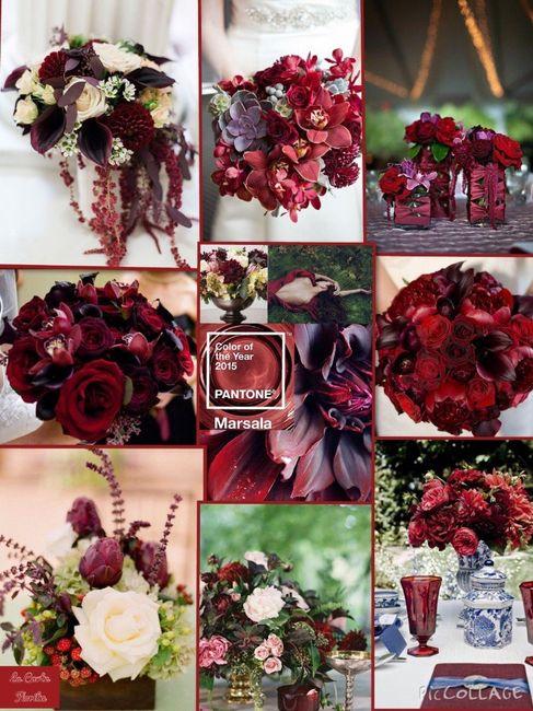 Color Marsala e fiori 5