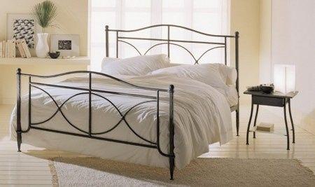Camera da letto moderna e letto in ferro battuto prima - Camera da letto in ferro battuto ...