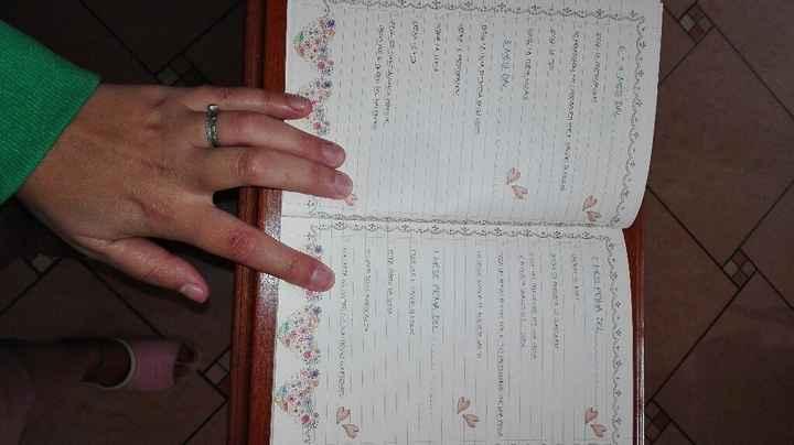 Agenda matrimonio - 2