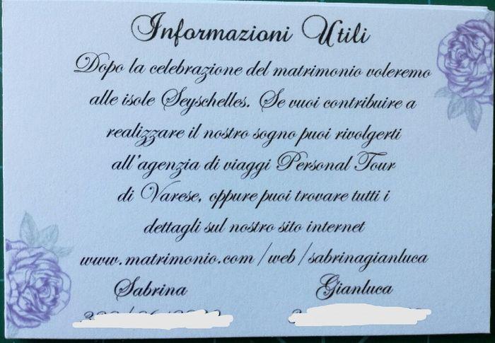 Super Inserimento lista nozze nelle partecipazioni, Cosa scrivere  JN11