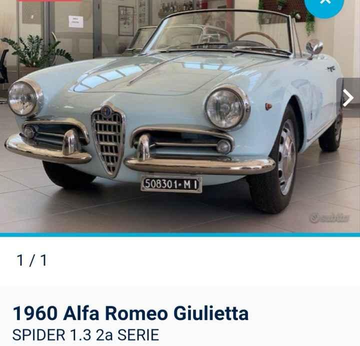 Macchina Alfa romeo Giulietta spider 1960? - 1