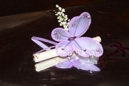 segnaposto farfalla lilla