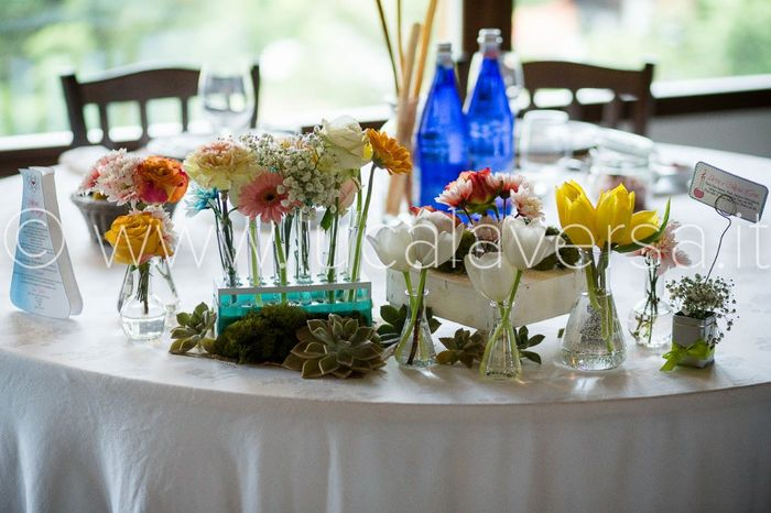 Tavolo degli sposi tema chimica foto ricevimento di nozze for Tavolo degli hobby