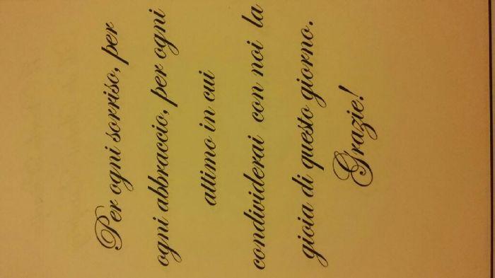 Frase ringraziamento segnaposto 2
