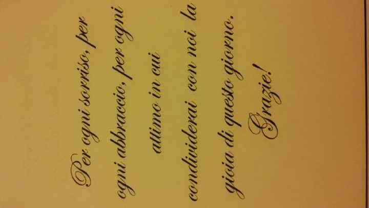 Frase ringraziamento segnaposto - 1