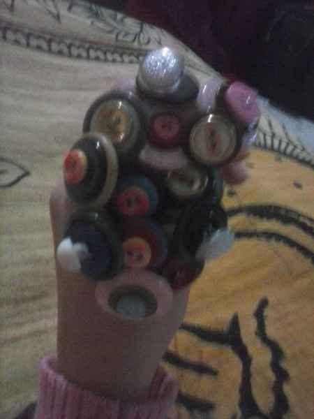 Il mio bouquet di bottoni fai da te - 1