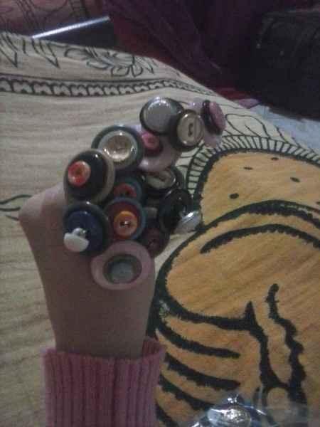 Il mio bouquet di bottoni fai da te - 3