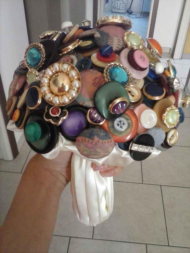Il mio bouquet di bottoni fai da te - 2