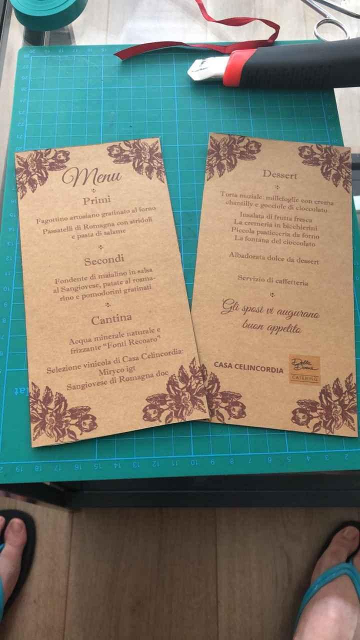 e anche i menu sono in produzione!!!! - 1