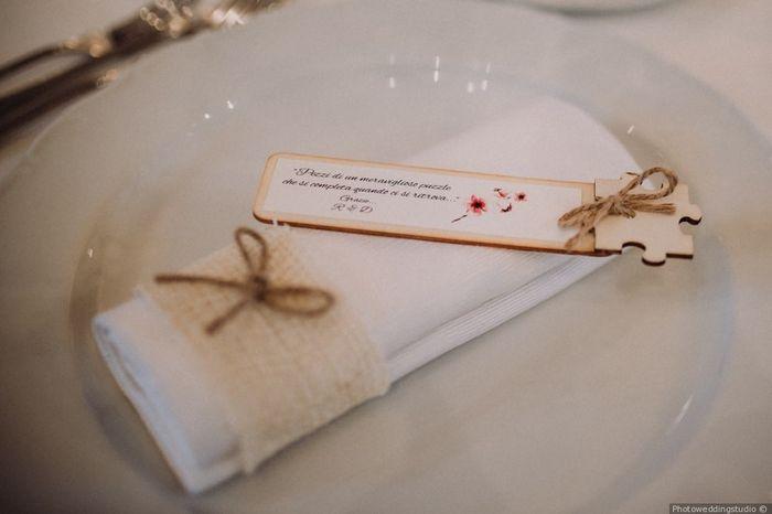 Dubbi sul tema di nozze? Il segnaposto 6