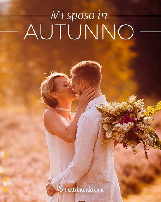 Quanti di voi si sposano in autunno? 1