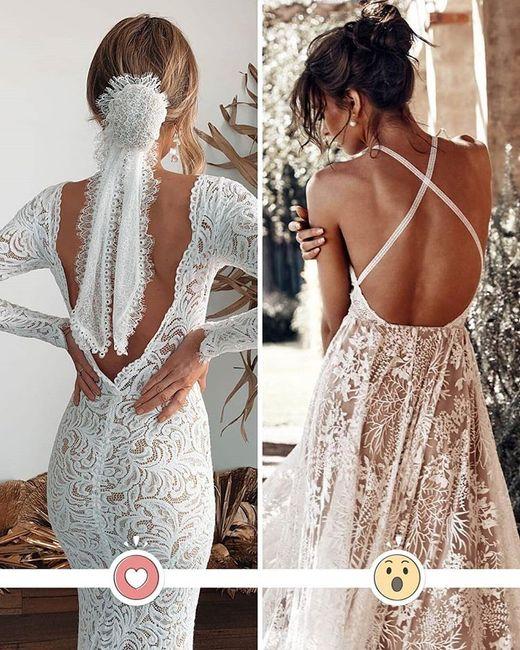 Sfida tra due abiti: vota la schiena che preferisci 1