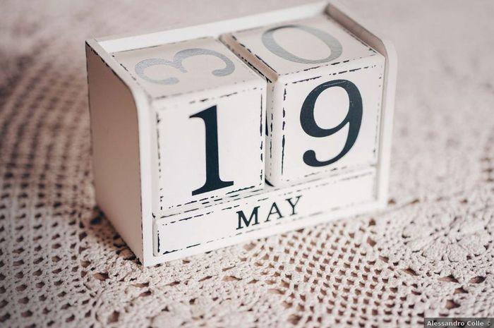 Vi sposerete nella prima o nella seconda quindicina del mese? 1