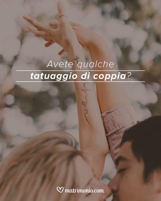 Avete qualche tatuaggio di coppia? 1