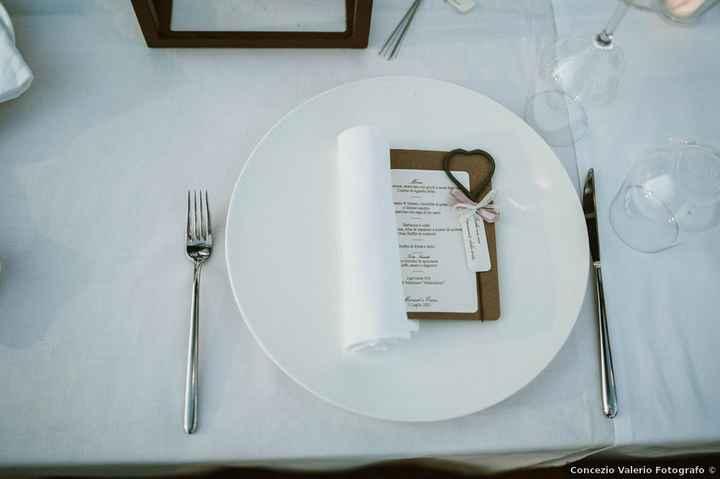 10 combinazioni possibili per presentare il menù di nozze - 7