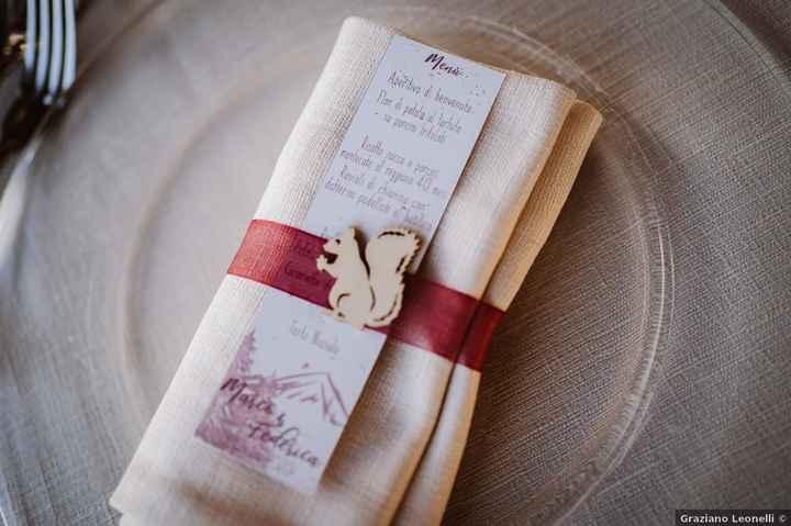 10 combinazioni possibili per presentare il menù di nozze - 8