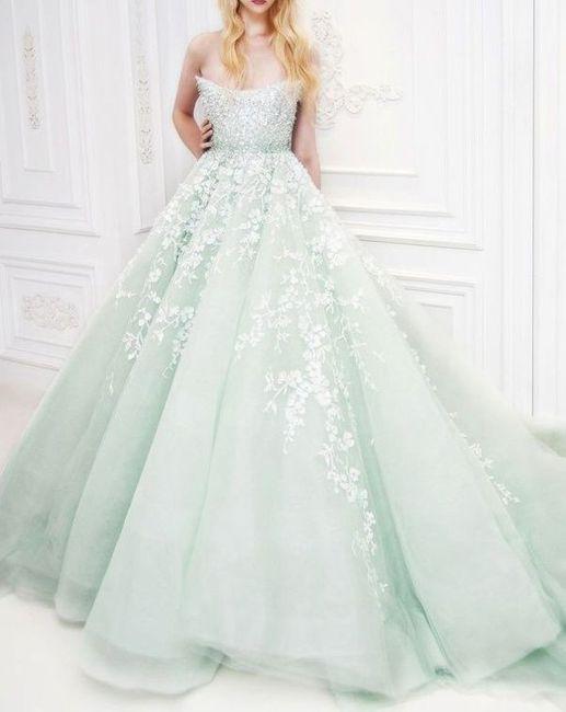 Vestito da sposa colorato - Foto Moda nozze