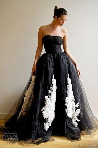 Vestido de novia negro tradicion