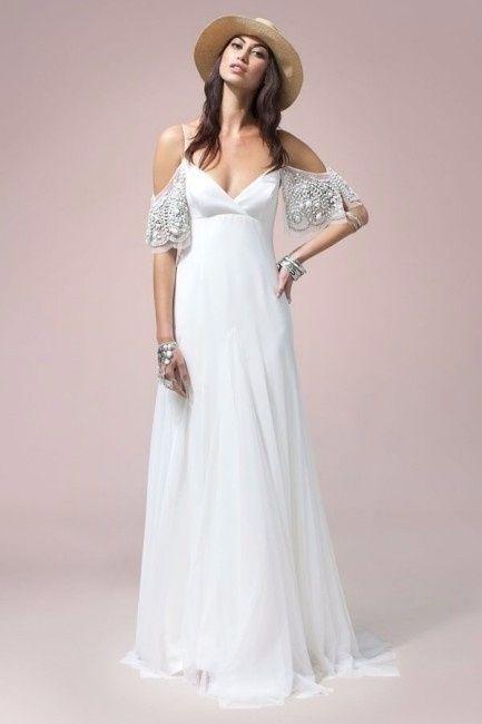 Abiti Da Cerimonia Hippie.10 Vestiti Da Sposa Stile Hippie Moda Nozze Forum Matrimonio Com