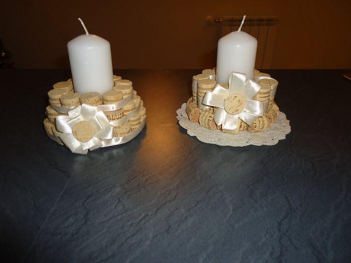 Idee Creative Con Tappi Di Sughero : Il mio fai da te porta candele con tappi di sughero fai da