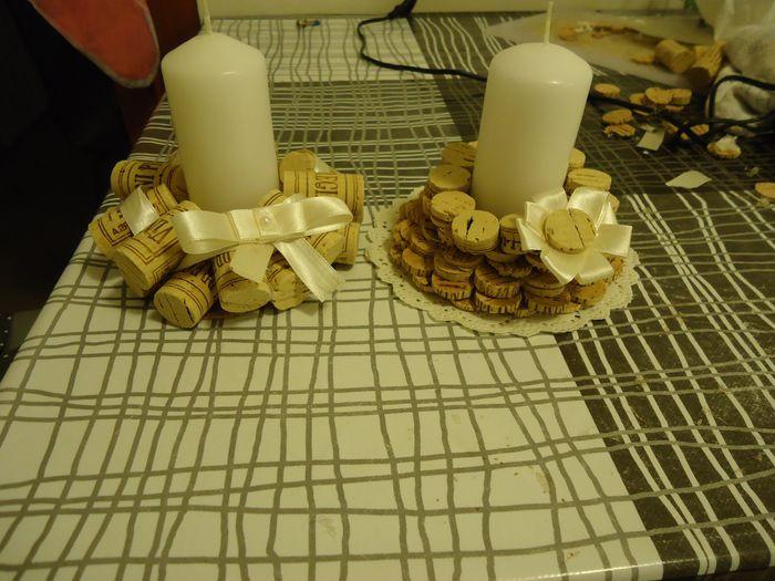 Il mio fai da te porta candele con tappi di sughero for Porta vino fai da te