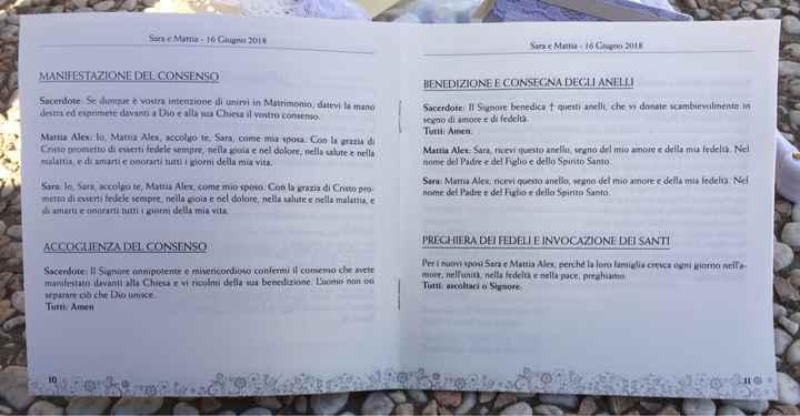 Libretto messa - 2
