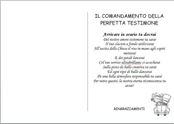 MANUALE PERFETTA TESTIMONE