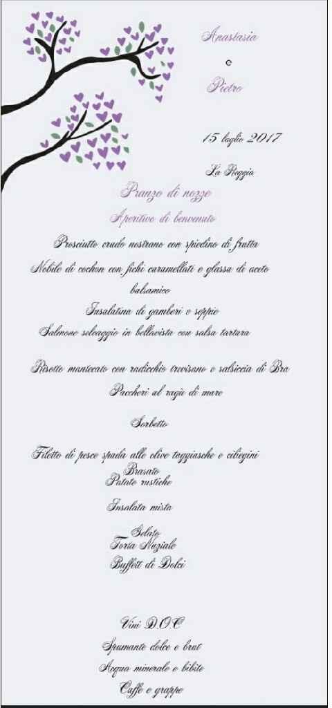 Menù di nozze - 1