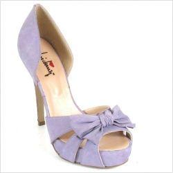 scarpe lilla matrimonio