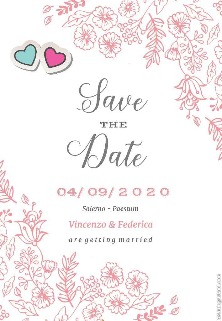 Questione save the date - 1