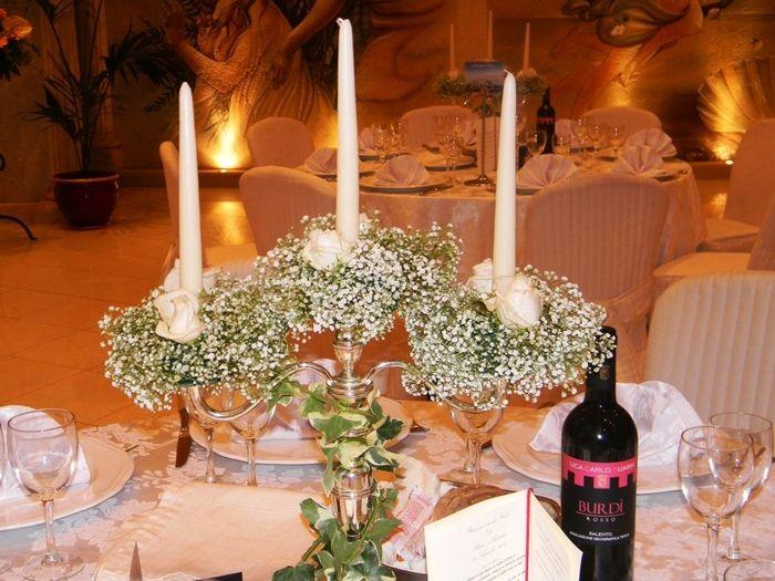Centrotavola per tutti i gusti ricevimento di for Addobbi tavoli matrimonio con candele