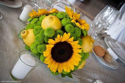 Girasoli Matrimonio Maggio : Centrotavola per tutti i gusti § ricevimento di