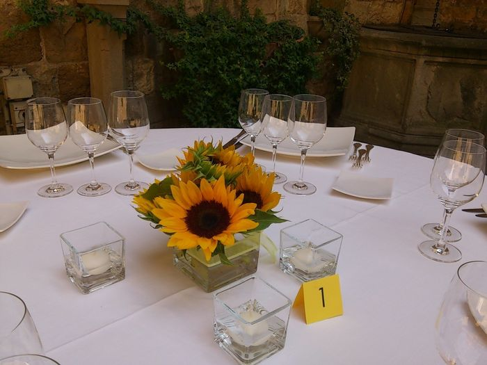 Tavolo Matrimonio Girasoli : Centro tavola girasoli fai da te forum matrimonio