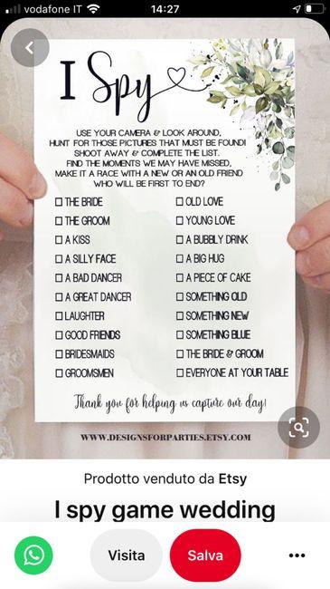 Giochi da fare durante il matrimonio - 1