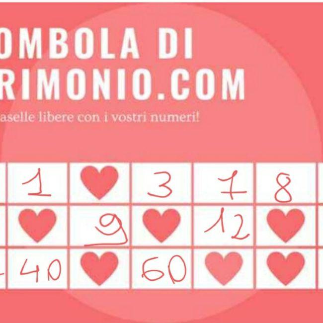 Gioca con i tuoi numeri alla Tombola di Matrimonio.com 1