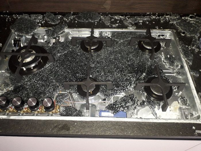 Piano cottura cristallo/vetro temperato 1
