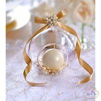 Sfera vetro decorazioni oro