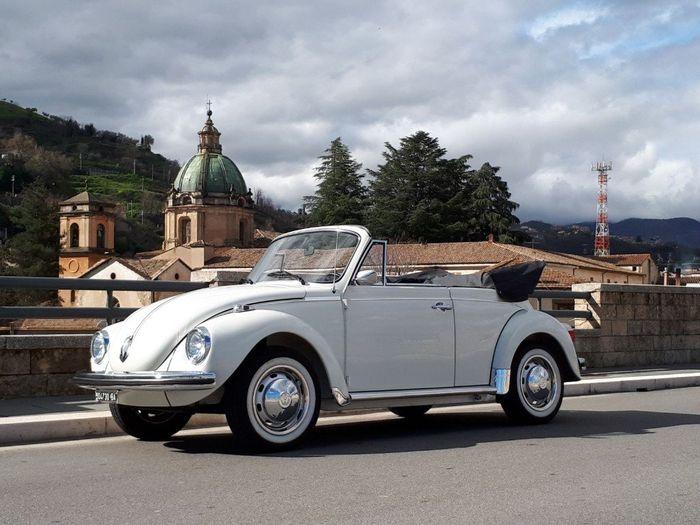 la mia auto vintage: maggiolone bianco!