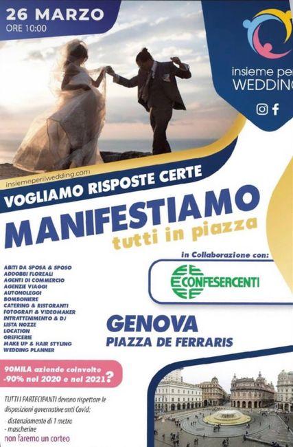 Oggi manifestazione per il settore wedding! - 1