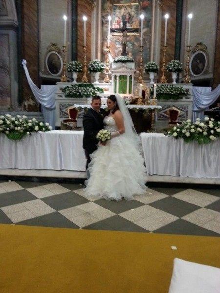 sull altare io e il mio maritino